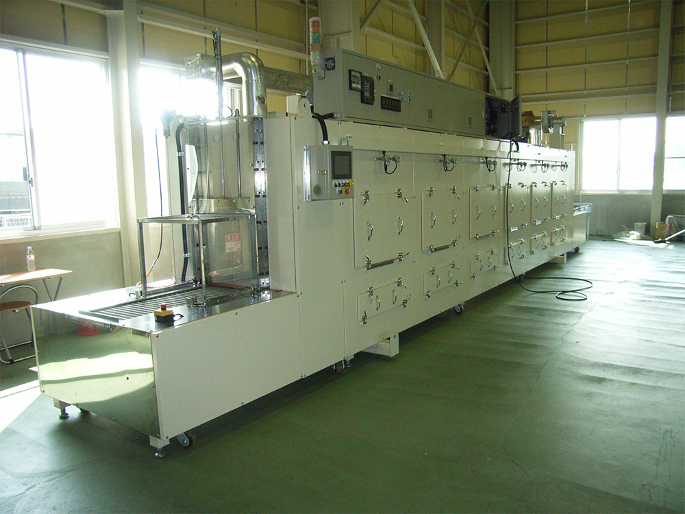 熱風式コンベヤー型乾燥装置
